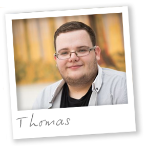 Second year BA Business Management student Thomas
