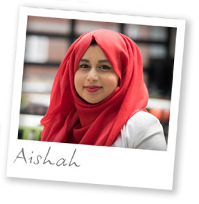 Final year BA Sociology and Criminolgy student Aishah