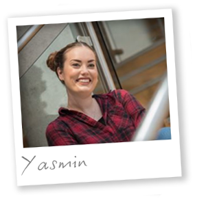 Third year Interpreting and Translation student Yasmin